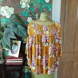 MITTOSHOP Fall Floral Top